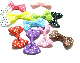 X 5 mix color fabric bow