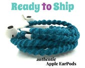 RTS Wrapped Headphones for iPhone, Handmade iPhone Headphones, Design Earbuds, Custom Headphones, iPhone EarPods Tangle Free Earbuds LYRIC