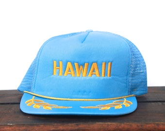 Vintage Hawaii Captain Travel Beach Island Vacation Trucker Hat Snapback Baseball Cap
