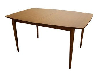 Mid-Century Modern American of Martinsville Walnut Surfboard Dining Table #12