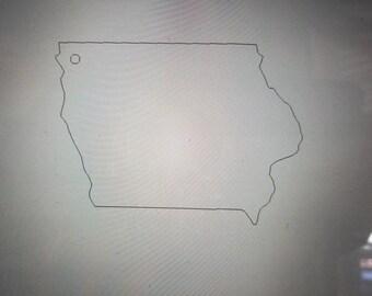 Iowa State Plastic Blanks / Iowa Blanks / Keychain Blanks / Plastic State Blanks