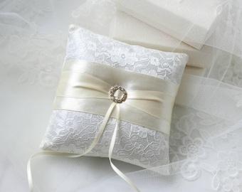 Ring Bearer Pillows - Wedding Ring Pillows - Ivory Lace Pillow - Ivory Weddings - Ring & Wedding ring pillow   Etsy pillowsntoast.com