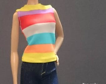 Tops for Barbie,Muse barbie,Tall barbie, FR, Silkstone -No. 0512