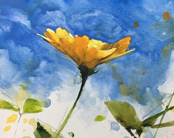 "1113 original watercolor 8x10"""