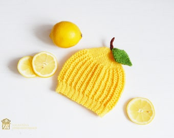 Newborn photo prop. Lemon Baby Hat. Newborn photo prop girl. Lemon Newborn Hat. Newborn photo outfit. Lemon Baby Costume. Baby Shower Gift.