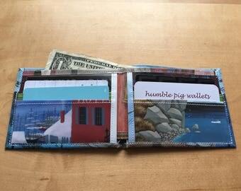 Miss Rumphius Seaside House bifold wallet