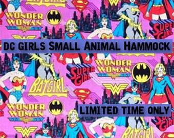 Custom DC Girls Hammock/Cuddle Sack! (rats. ferrets, sugar gliders, guinea pigs, chinchillas, rabbits, hedgehogs, mice, hamsters)