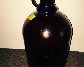 RARE 1950s PURINA Brown Glass Gallon Bottle