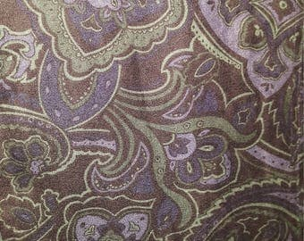 Purple paisley suede flannel button-up