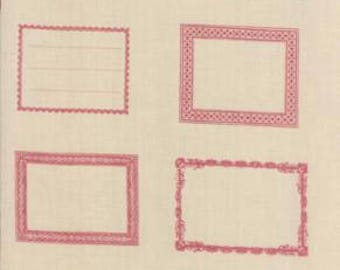 "Quilt Labels By the Panel 24"" x 44""  by French General Cotton Fabric,by Moda,  Fast Shipping M226"