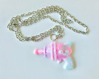 Pastel Alien Ray Gun Kawaii Necklace