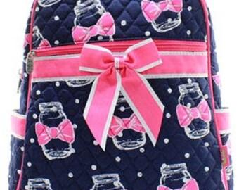 Personalized Mason Jar Backpack - Embroidered Custom Backpack