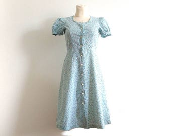 Vintage dress / Flower dress / Size S