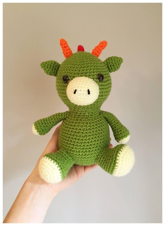 Green Dragon Amigurumi Toy