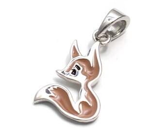 925 Sterling Silver Fox