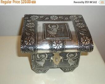 50% OFF Angel Embossed Aluminum Jewelry/Trinket Box