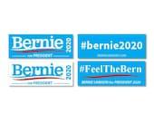 "4 ""Bernie Sanders"" Bumper Stickers - Variety Pack - Indoor or Outdoor"
