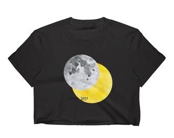 Women's Eclipse 2017 Souvenir Crop Top T-Shirt