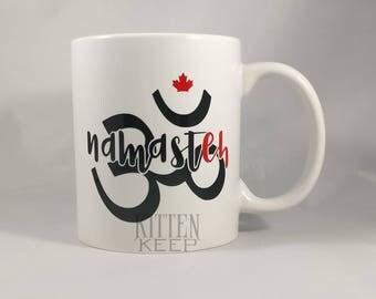 Namasteh | Namaste | Yoga | Canada | Funny | Coffee Mug