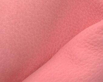 """Rustic Bright Pink Leather New Zealand Deer Hide 8""""x10"""" Pre-cut 4-5 ounces -12 DE-66115 (Sec. 3,Shelf 2,D)"""