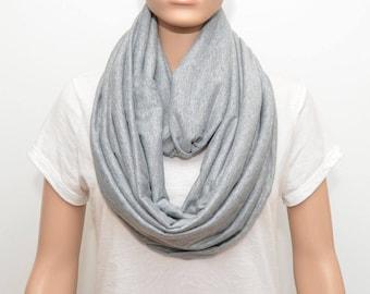 Gray Infinity Scarf, gray scarf, heather gray scarf, heather gray infinity scarf,wide scarf