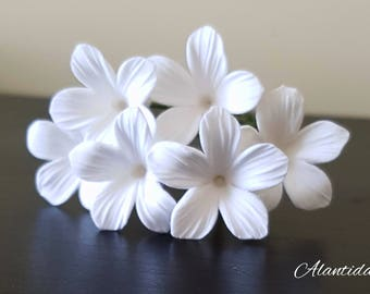 White Stephanotis  Hair Pins Set  Bridal Hair Flowers Hair Flowers White Bridal Hair Pins
