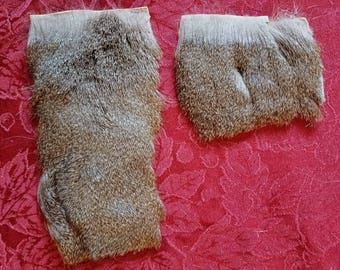 Thrifted Thick Deer Fur Scraps - Ethical Humane Scrap Recycled Eco Friendly