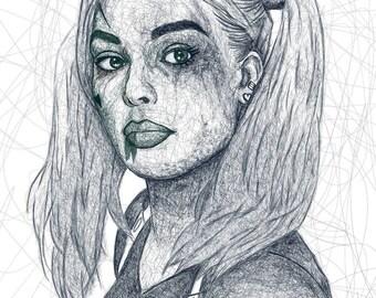 Custom Scribble Sketch, Custom Scribble Portrait from Photo, Pencil Portrait Sketch, Scribble Sketch, Scribble Sketch Drawing