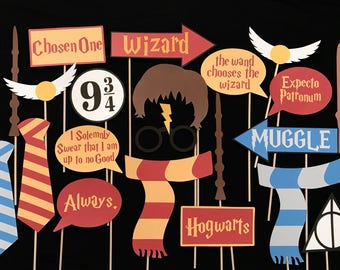 Harry Potter Themed Photo Booth Props
