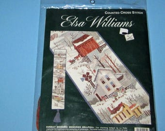SALE Elsa Williams 02064  Counted Cross Stitch Kit Sunday Morning Memories BellPull