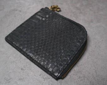 Handstitched Card Holder *Genuine Python*