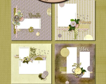 Scrapbooking Digital: Quick Page Set, Inner Calm