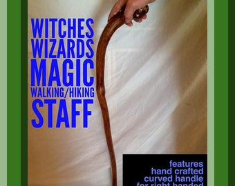 Witches Wizards Walking Staff