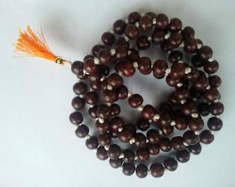 sandalwood mala,Japa Mala Beads, Meditation Mala Beads, Yoga Mala Beads , Wood Mala,108 Sandalwood Beads,Tibetan Mala