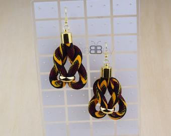 Boucles d'oreilles wax, boucles d'oreilles en tissu africain, african fabric earrings for women, ankara earrings, textile earring