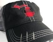 Buffalo plaid Michigan trucker hat