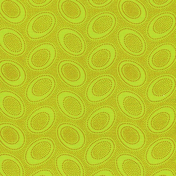 ABORIGINAL DOT Lime GP71 Kaffe Fassett Collectives Sold in 1/2 yd increments