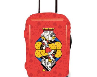 Luckiplus Funny Luggage Cover Spandex Suitcase Cover  Fits 18-32 Inch Luggage