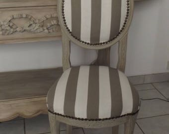 2 chairs style MARIE ANTOINETTE tints in shades of taupe