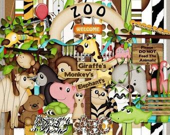 ON SALE NOW 65% off It's A Zoo In Here Digital Scrapbook Kit