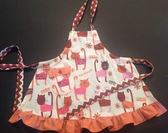 Youth apron Child's apron Adjustable child's apron Grow with me apron Child's play apron