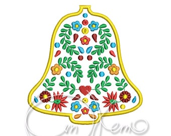 MACHINE EMBROIDERY DESIGN - Mexican Christmas bell
