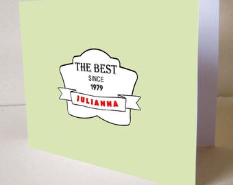 Customizable birthday card