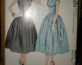 Make a Marvelous Mrs. Maisel Dress 1954 Pleated Skirt Sundress Sewing Pattern McCalls 9819 Misses Dress size 12 bust 30 waist 25