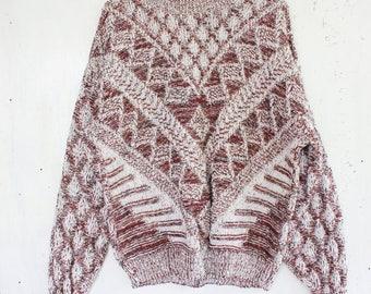 Vintage Arrow Aztec Print Patterned Sweater