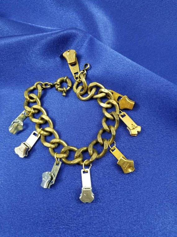 Vintage Zipper Pull Bracelet