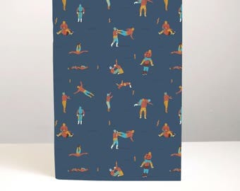 Lucha Libre notebook -  mexican notebook wrestling notes lucha libre stationery wrestling stationery illustrated notebook bullet journal