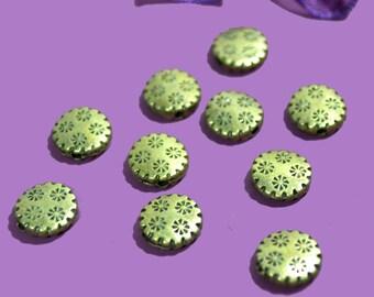 bronze 30 starry flat 10mm beads