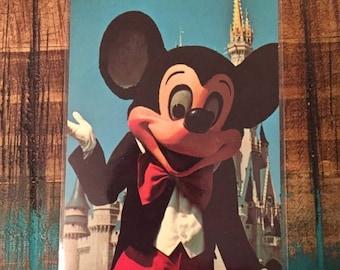 SALE Walt Disney World Vintage Postcard featuring Mickey Mouse, Fantasyland, unused