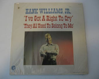 Hank Williams Jr - I've Got A Right to Cry - Circa 1971